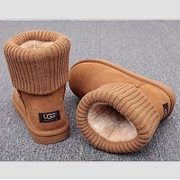 UGG Plush Leather Boots Boots In Tube Boots Shoes-2