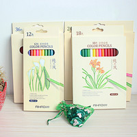 Secret Garden colored pencils coloring pencils 36 color water-soluble colored pencil creative stationery factory