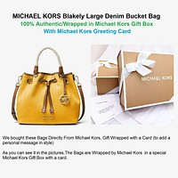 """MICHAEL MICHAEL KORS Blakely Large Canvas Bucket Bag, In MK Gift Box """"Authentic"""""""