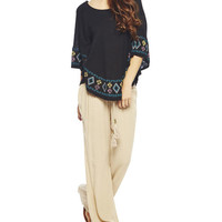 Embroidered Round Poncho | Wet Seal