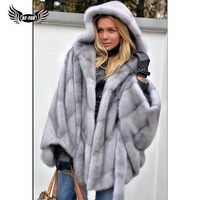 BFFUR 2018 New Arrival Real Mink Fur Coat Women Jacket Winter Warm Casual Support Customization Leather Clothing Lady Fur Coats