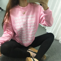 1-800 hotline bling print sweatshirt