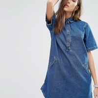 Pull&Bear | Pull&Bear Denim T-Shirt Dress at ASOS
