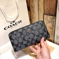 COACH Tide brand women's high quality zipper bag folding wallet
