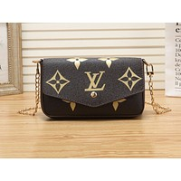 LV Hot Selling Ladies'Printed Two-piece Set of Small Single Shoulder Bag Big printing