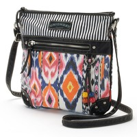 Unionbay Aztec Convertible Crossbody Bag (Black)