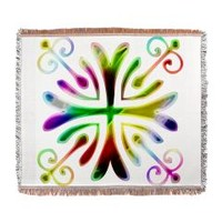 Psychedelic Kaleidoscope Woven Blanket> For The Home> Designs By Gina Lee Manley