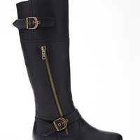 FOREVER 21 Zippered Riding Boots