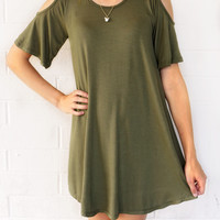 Leave You Breathless Dress Olive