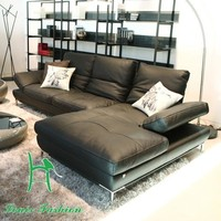 Small family dermal sofa head layer cowhide little sitting room is contracted and contemporary three corner combination