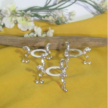 Silver Plated Flower Sphere Stand