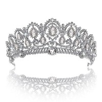 DCCKV2S Crown, Tiara, YallFF Prom Queen Crown Quinceanera Pageant Crowns Princess Crown Rhinestone Crystal Bridal Crowns Tiaras for Women