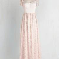 Fairytale Long Cap Sleeves Maxi Blush With Destiny Dress