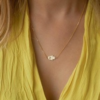 Gift Jewelry Shiny New Arrival Stylish Simple Design Chain Necklace [7298061959]