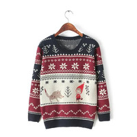 Pullover Sweater Winter Hats Needles Tops Bottoming Shirt [9036998028]