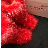 Ruby Red Sparkle – Classic Tall Fluffy Wuffy Boots