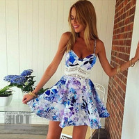HODMEXI™ New Women Casual Print Sundresses,Plus Size Sexy Club Summer Beach Party Midi Tank Dress = 5657713345