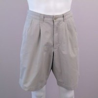 Blue Harbour Marks And Spencer Relaxed Fit Chino Shorts Sz 34L 86cm Putty Color