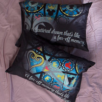 Kingdom Hearts Stained Glass Pillowcase Set