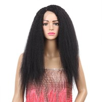 Golden Beauty Long Straight Synthetic Lace Front Wigs