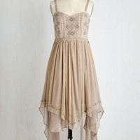 Boho Long Spaghetti Straps Every Step of the Sway Dress by ModCloth