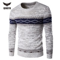 Pull Homme 2016 O-Neck Sweaters Knitted Long Sleeve Men Sweater Mens Thickening Keep Warm Bottoming Sweaters Pullover XXL