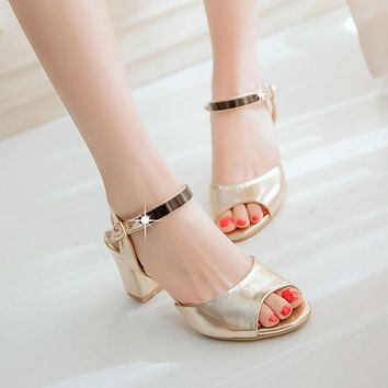 Women Sandals Pumps Ankle Strpas High-heeled Shoes