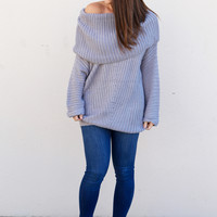 Crochet All Day Sweater {Grey}