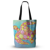 "Catherine Holcombe ""Circle Turtle"" Yellow Orange Tote Bag, 13"" x 13"" - Outlet Item"