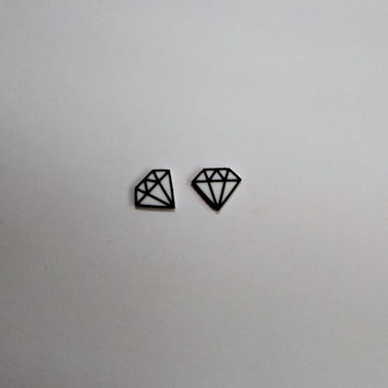 Diamond Cartoon Stud Earrings Fun Novelty Gift