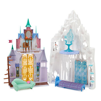 Frozen 2-in-1 Castle and Ice Palace Playset by Mattel