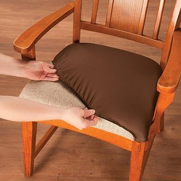 Set of 2 Easy Fit Chair Seat Covers