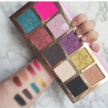 Beauty Make-up Professional Stylish 10-color Eye Shadow Make-up Palette [10937930063]