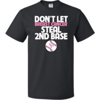 Don't Let Breast Cancer Steal 2nd Base Funny T-Shirt