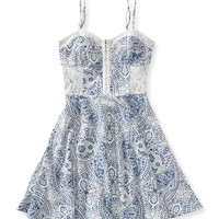 Paisley Bustier Dress -