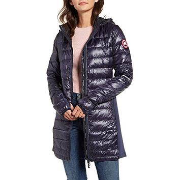 Canada Goose Hybridge Lite Hooded Packable Down Coat Navy