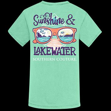 Southern Couture Sunshine & Lake Water Comfort Colors T-Shirt