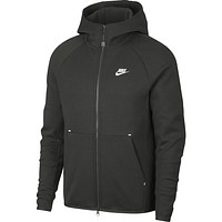 Nike Men's Sportswear Tech Fleece Full Zip Hoodie Sequoia Olive Green