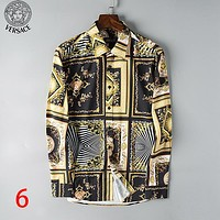 Boys & Men Versace Fashion Office Shirt Casual Shirt Top Tee