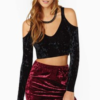 Nasty Gal Amulet Velvet Crop Top