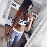 Women's Sports Suits Yoga Sets Sports Bra Leggings Slim Sportswear Running Jogging Woman Fitness Gym Stretch Sport Suit Clothing