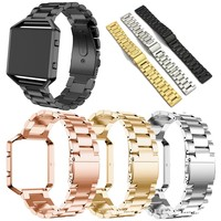 Replacement Stainless Steel Chain Link Bands with Metal Frame for Fitbit Blaze [11902710927]