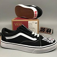 VANS OLD SKOOL fashion school board shoes F-CSXY black