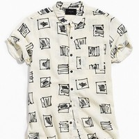 Rolla's Square Town Rayon Short Sleeve Button-Down Shirt | Urban Outfitters
