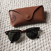 Ray Ban Clubmaster RB3016 W0366 Tortoise + Genuine Case