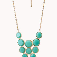 FOREVER 21 Geo Girl Faux Stone Necklace
