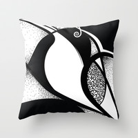 Abstract Humming Bird Throw Pillow by Ashley Hillman
