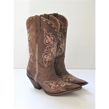 Leather & Embroidered Cowboy Boots by Premier Western Wear