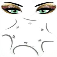 6 style make up eyeshadow stencil cat palette template eye card Multifunction beauty cosmetic tools