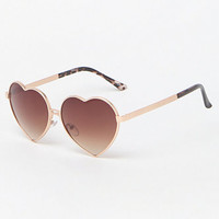 LA Hearts Metal Heart Sunglasses at PacSun.com